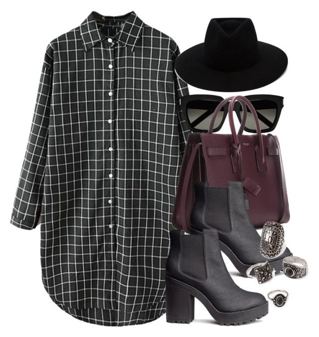 """Style #11256"" by vany-alvarado ❤ liked on Polyvore featuring Yves Saint Laurent, H&M, rag & bone and Forever 21"