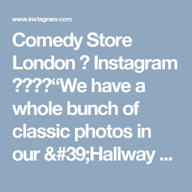 "Comedy Store London 在 Instagram 上发布:""We have a whole bunch of classic photos in our 'Hallway of Fame'. Here's a great one of #alandavies :) #ComedyStoreLondon"""
