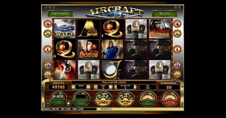 Aircraft slot from iSoftBet