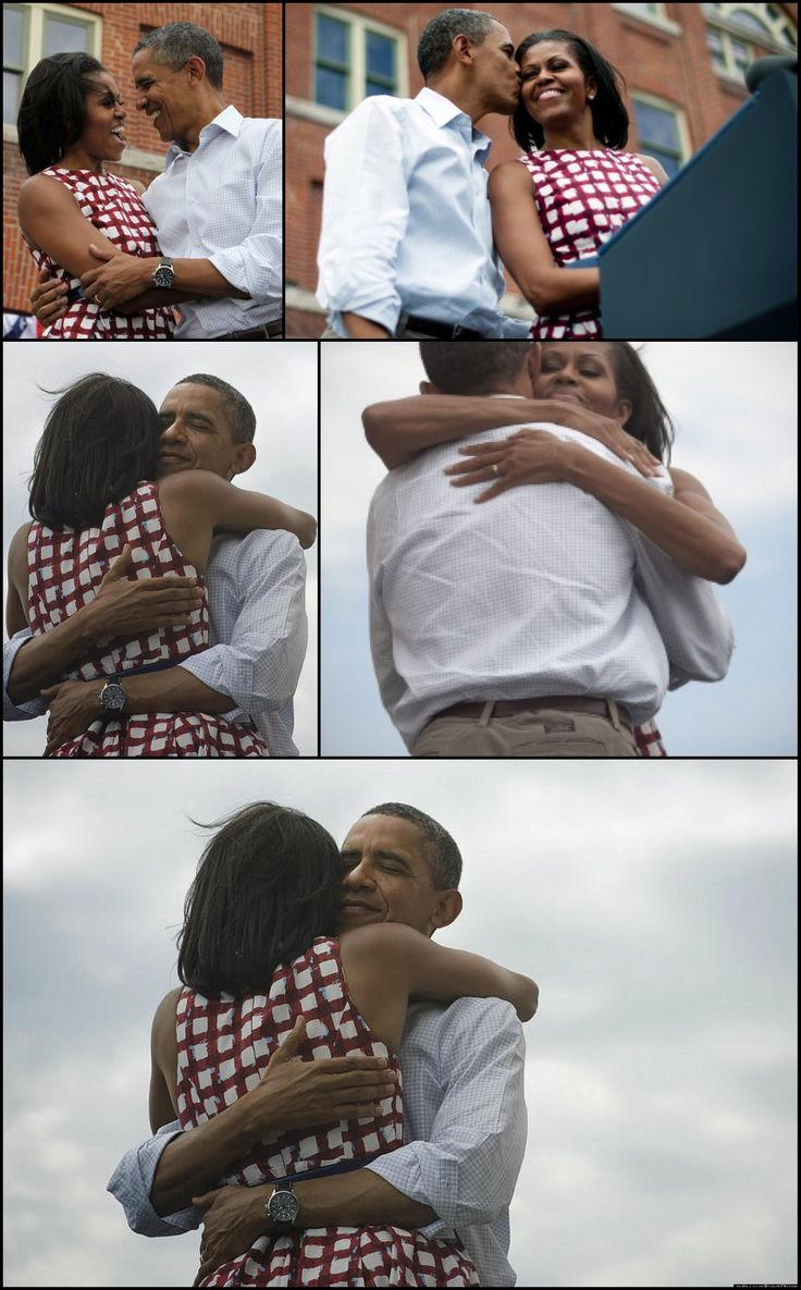 """#44thPresident #BarackObama & #FirstLady #MichelleObama Describe The Hug Shared Around The World On Election Night Asked why he was hugging the first lady so hard, the president answered without hesitation, """"Because I LOVE MY #WIFE """" Moments after the 2012 presidential election President team blasted out a picture of the President & Michelle embracing."""" It quickly broke records on both Facebook and Twitter as the most-shared photo of all time."""