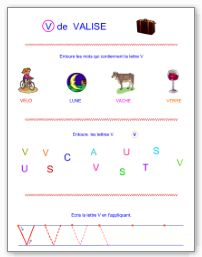 Lettre V en majuscule d'imprimerie