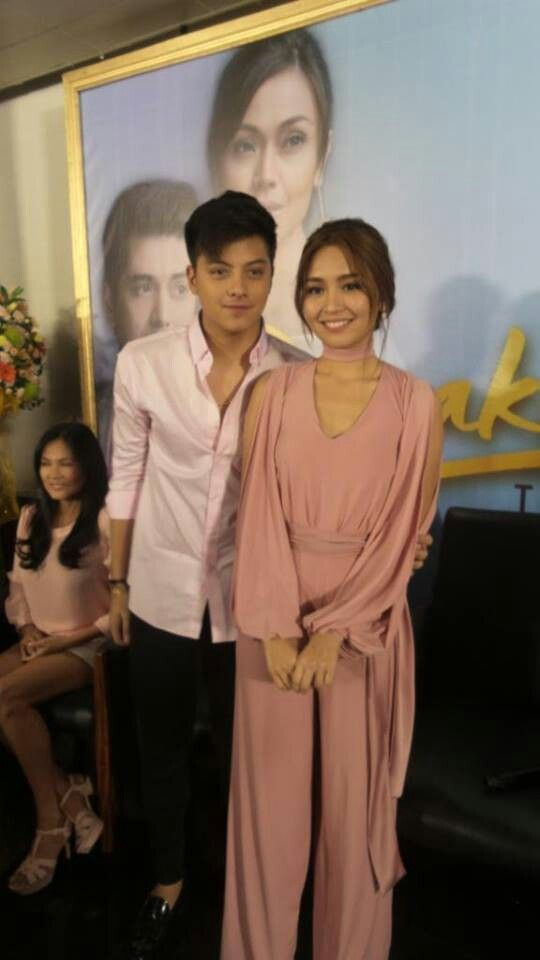 """This is the handsome Daniel Padilla and the pretty Kathryn Bernardo smiling for the camera before the start of the Press Conference for the Finale Week of Pangako Sa 'Yo at the ABS-CBN Compound in Quezon City last February 6, 2016. Indeed, KathNiel is my favourite Kapamilya love team, they're amazing Star Magic talents, and """"Pangako Sa 'Yo"""" is my favourite Kapamilya telenovela. #KathrynBernardo #TeenQueen #DanielPadilla #KathNiel #KathNielBernaDilla #PangakoSaYo"""