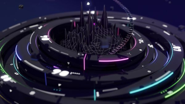 MTV indies chart / indies music video selection Gfx Pac by TAKCOM , via Behance - 3D Typography Design Modelling