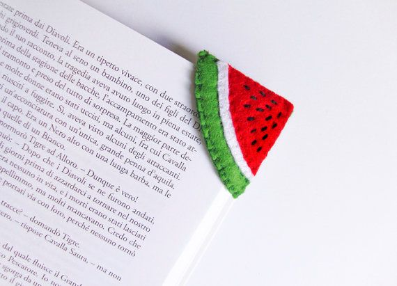 Watermelon slice Felt Bookmark corner от InspirationalGecko