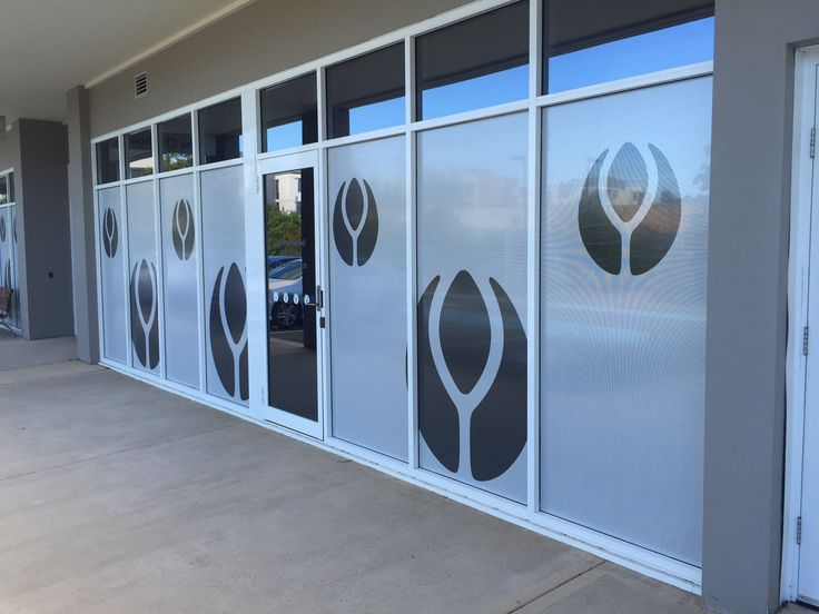 Cunneen Signs - Anglican Retirement Village Vinyl decals over windows - looks great ad gives workers inside privacy