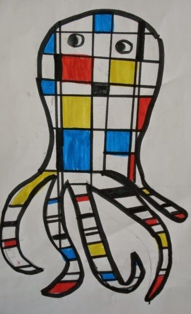 Mondrian-Inspired Animals