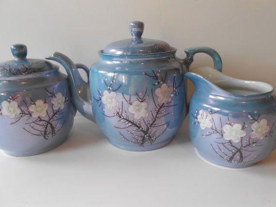 Lusterware Tea Set Dogwood Pattern Noritake By