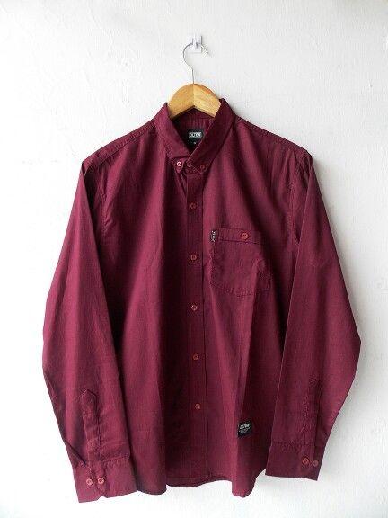 Longshirt Maroon Olten - Rp210.000
