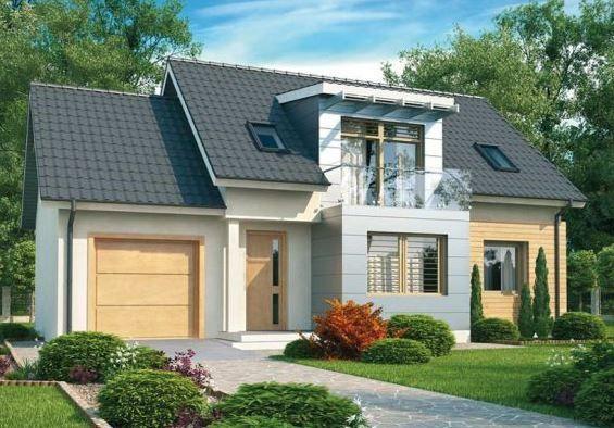 Casa con techo de tejas y dise o moderno de 4 dormitorios - Casas modulares de diseno moderno ...