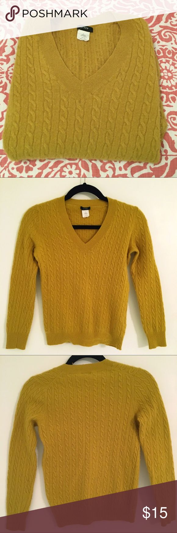 J Crew green v-neck sweater size small J Crew Green v-neck sweater. See cover photo for accurate color. Good condition except for some light pearling of fabric. Size small J. Crew Sweaters V-Necks