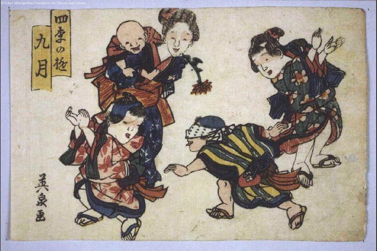 Keisai Eisen: Amusements in the Four Seasons: Ninth Month - Edo Tokyo Museum