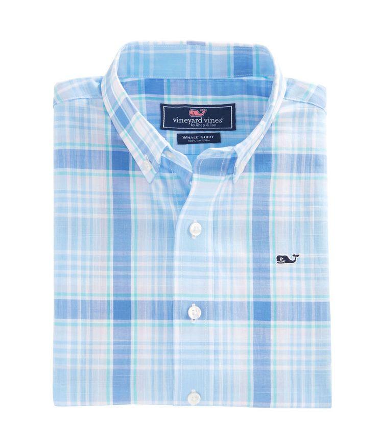 VINEYARD VINES Boys Whale Shirt L/S Hamblin Plaid Blue $45 NWT SIZE SMALL LARGE #vineyardvines #DressyEverydayHoliday