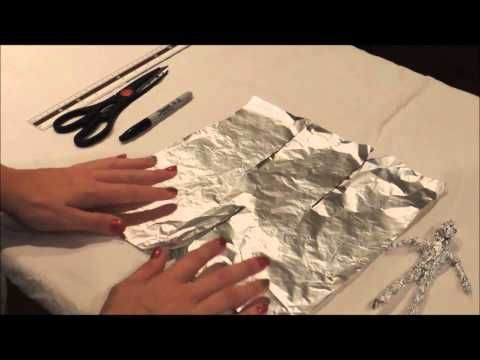 How to make a tin foil figure - YouTube