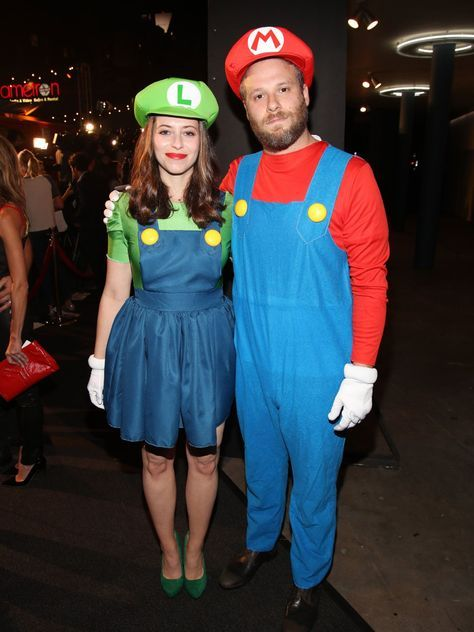 Mario & Luigi: Seth Rogen in a couple's costume