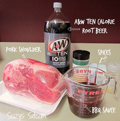 Root beer pulled pork BBQ- great gluten-free recipe with a ton of flavor!