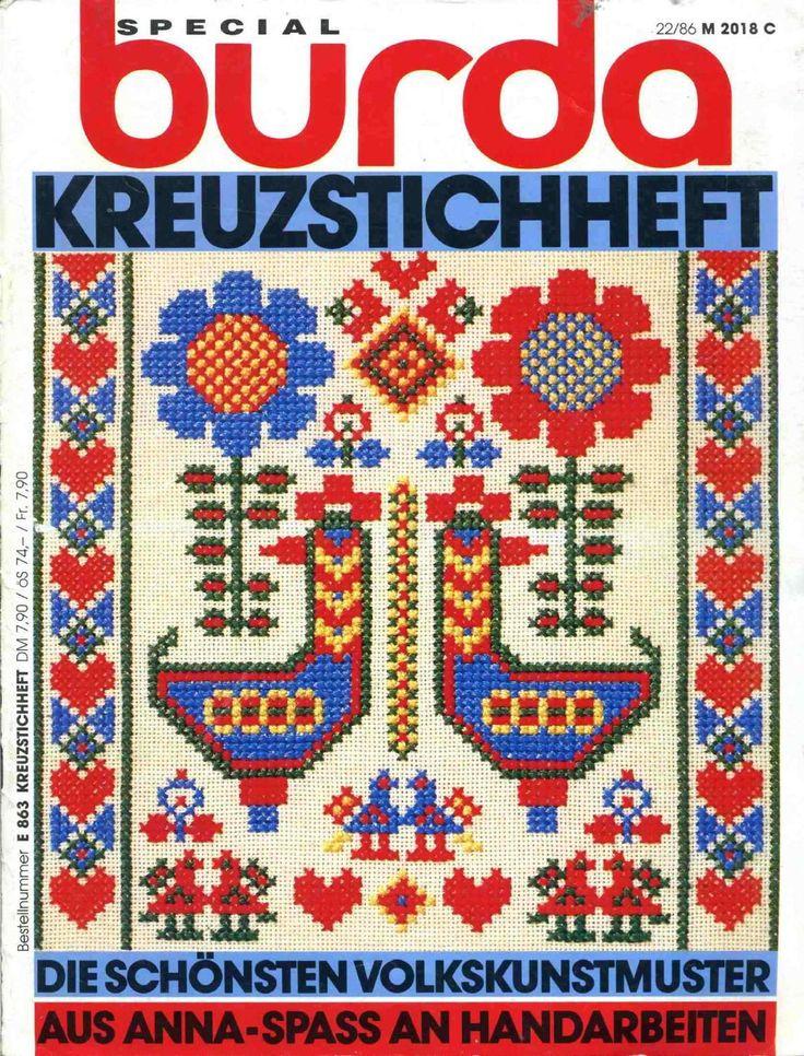 Burda special e863 1986 kreuzstichheft