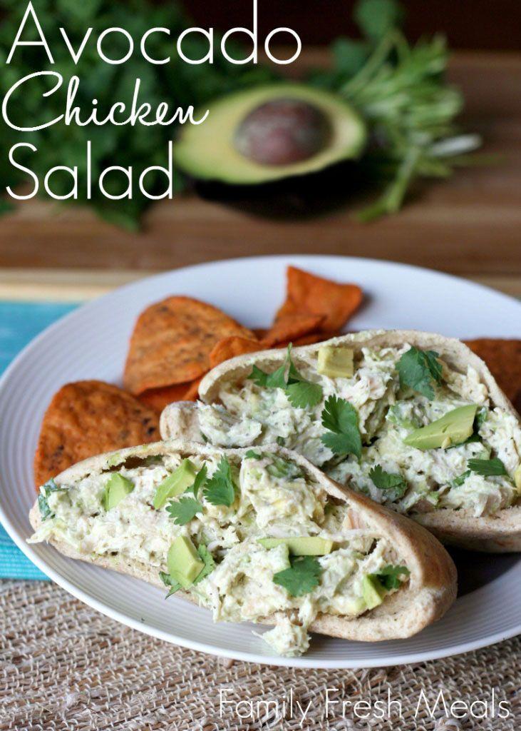 Tastes so good you won't believe it's healthy! Healthy Avocado Chicken Salad1