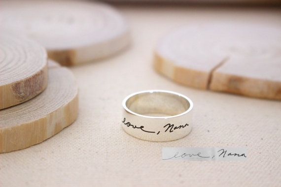 30% OFF Memorial Signature Mens Ring Actual by CaitlynMinimalist