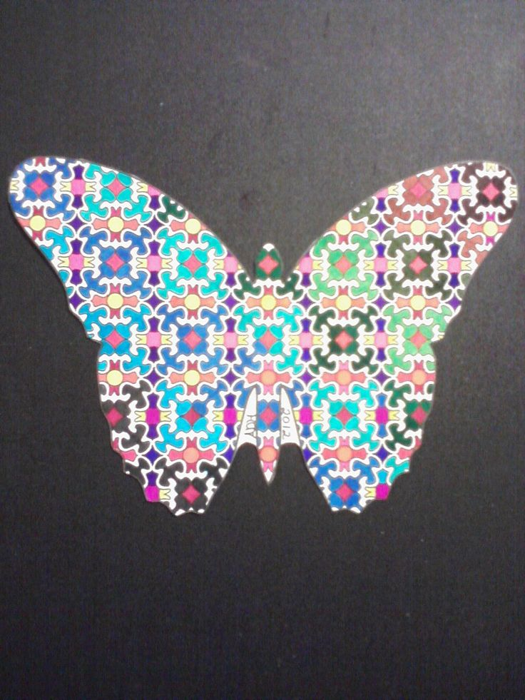 From Intricate Butterflies Coloring Book Pad Colored With Permanent Marker On Aquabee