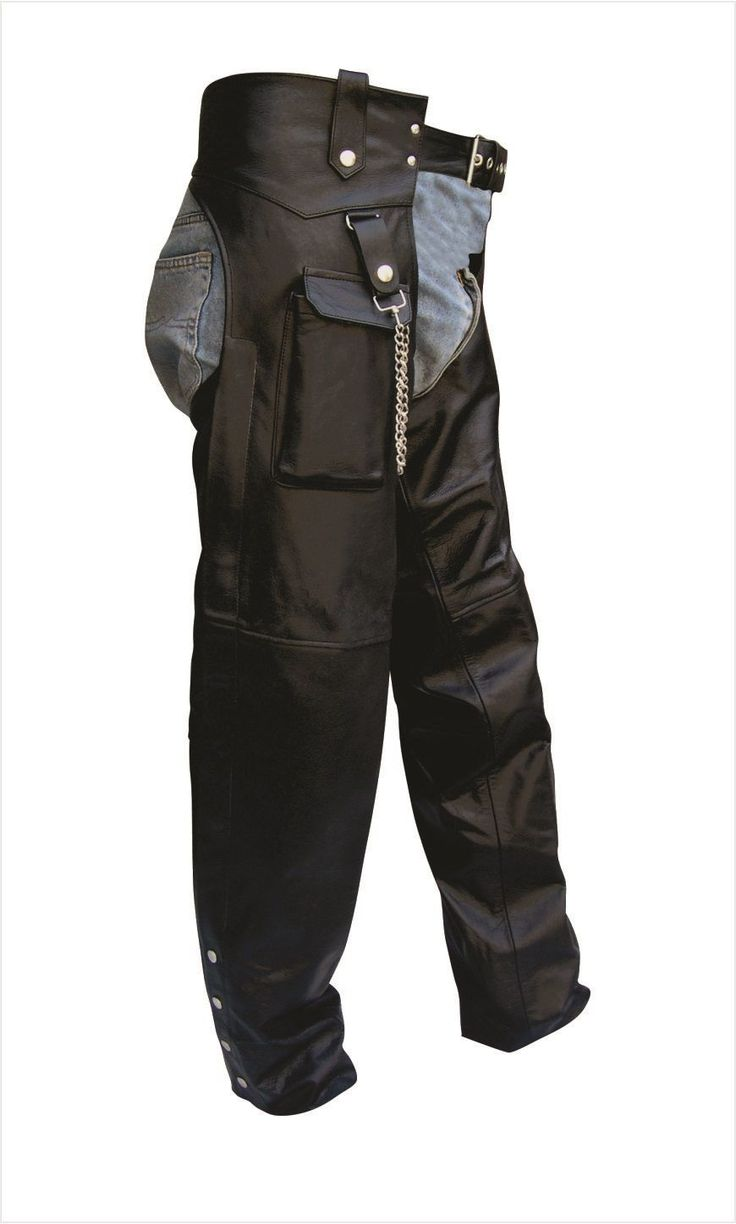 Unisex Leather Motorcycle Chaps with Cargo Pocket by Allstate Leather  http://www.mymotorcycleclothing.com/