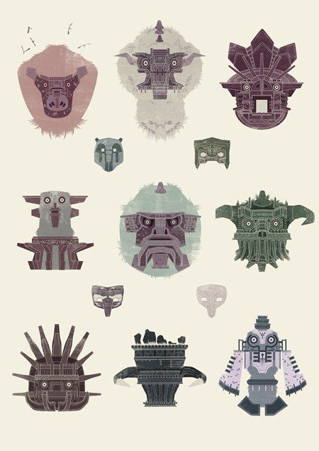 Shadow of the Colossus. This wold look awesome on a t-shirt. I'm sorry, I have a trauma with this game