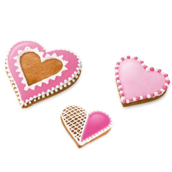 Foremki w kształcie serca | 15,99 zł | #valentinesday #walentynki #cookies #ciastka #heart #serce