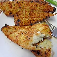 Texas Style Grilled Flounder by smokedngrilled #Fish #Flounder