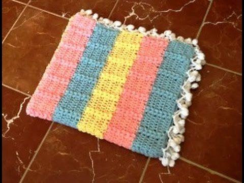 Mantita bebe tejida a crochet con punto trigo facil / Couverture bebe crochet point de blé - YouTube