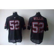 Sideline Black United 49ers #52 Patrick Willis Black Stitched NFL Jersey
