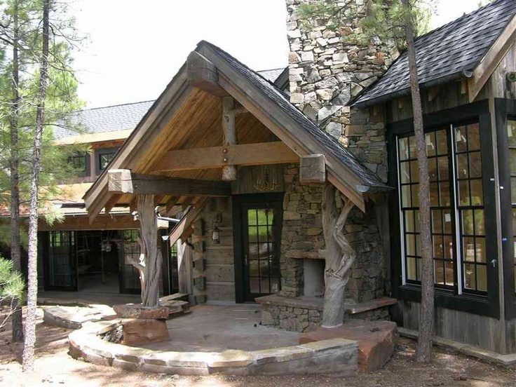 190 best craftsman images on pinterest craftsman for Hewn log cabin kits