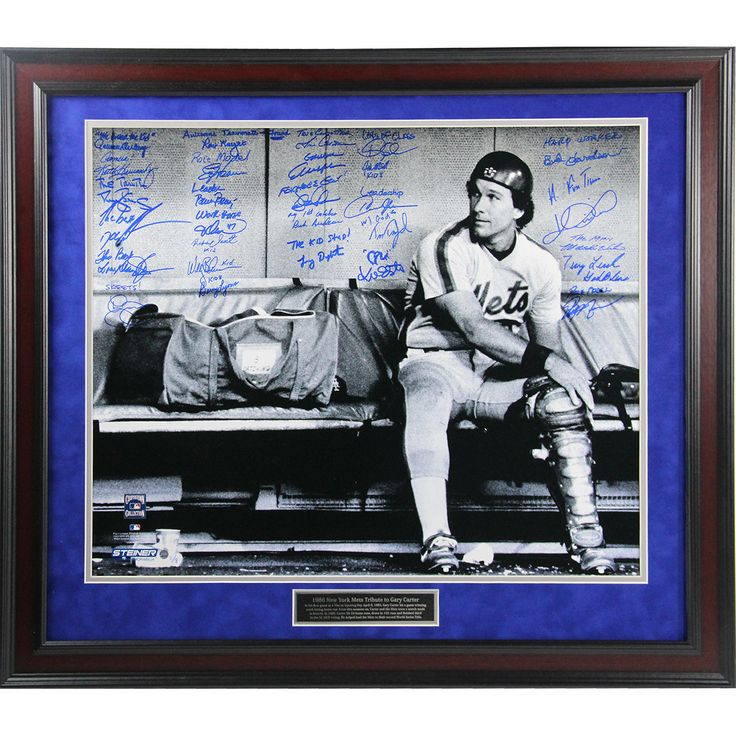1986 New York Mets Team Signed & Inscribed Gary Carter Tribute 20x24 Photo (LE/8) (Framed 24x28 9722)
