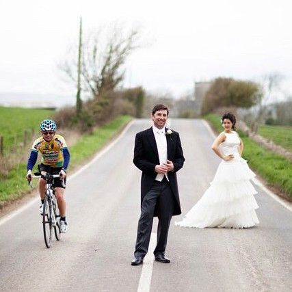 6 years married to this guy, this pic always makes me laugh as it's so prophetic. Wife on one side, cycling on the other! 😂