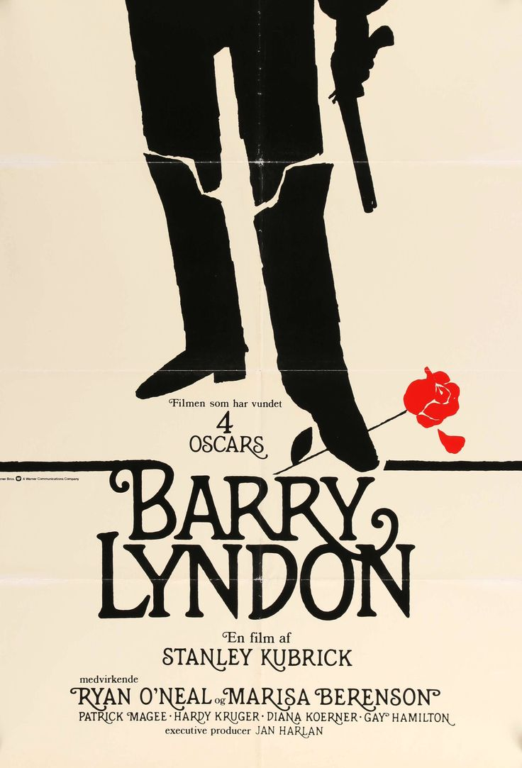 "Barry Lyndon (1975) Vintage Danish Movie Poster - 25"" x 34"""
