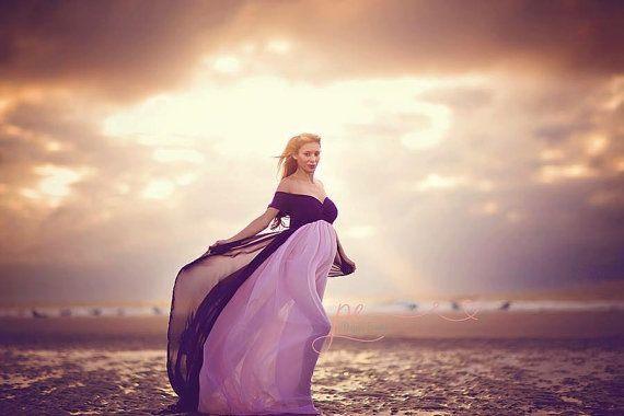Ambrosia-Kleid aus der Schulter mit kurzen Ärmeln / Mutterschaft Kleid / dress Mutterschaft / Fotografie