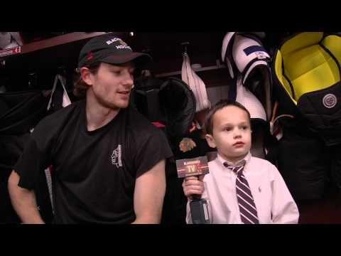 Meet Joey, The Blackhawks Junior Reporter. this is cute.