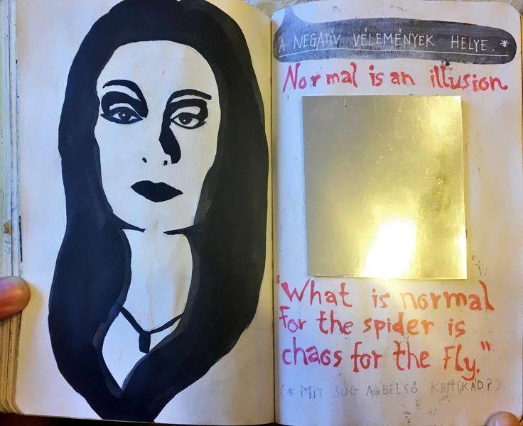 #NyírdKiEztANaplót #WreckThisJournal #AddamsFaimly #tükör #Mirror #MorticiaAddams