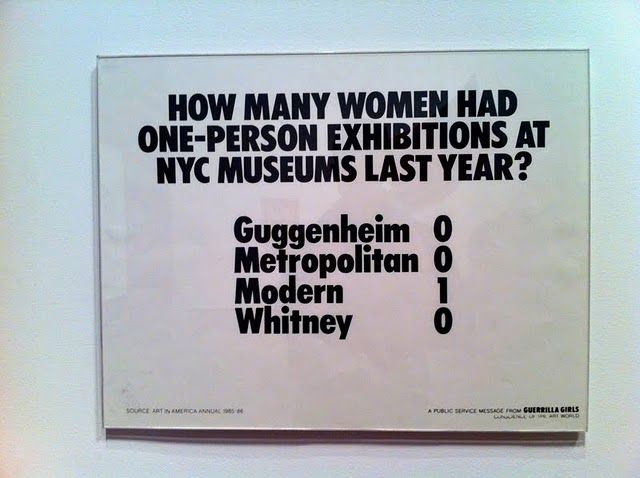 Poster at MOMA NYC by Guerilla Girls