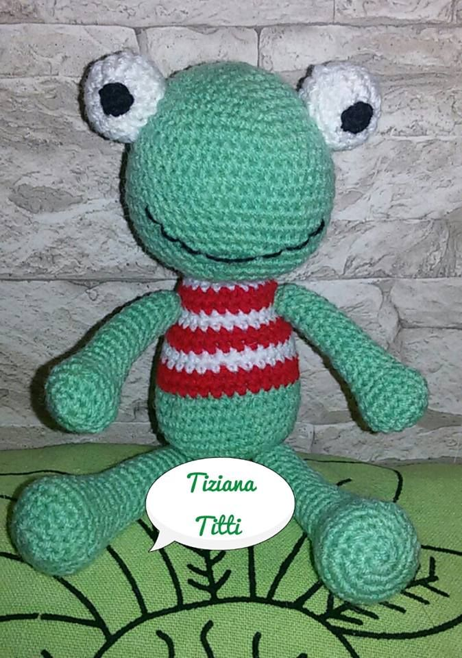 rana frog amigurumi per un sorriso for a smile crochet