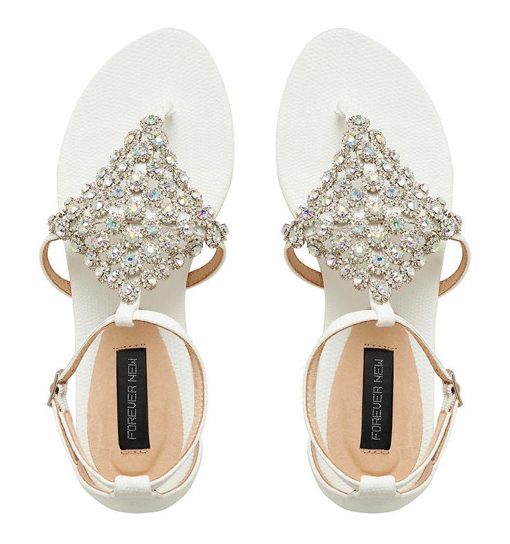 Sacha Embellished Sandal - Forever New