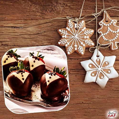 We have the perfect dessert for your post dinner Christmas celebration. Try the Chocolate covered Strawberries http://bit.ly/DesiEatChocolatecoveredStrawberries , & share your reviews. #Christmasfood #preChristmaspreparations #ChocolatecoveredStrawberries