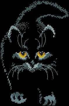 Gallery.ru / Фото #18 - Схемы к моим отшитим работам - COBECTb  Black Cat  not many stitches but striking