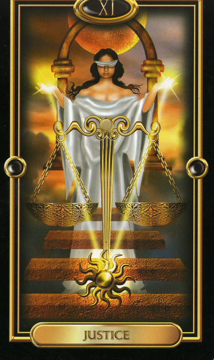 The Justice Tarot Card Meaning In Readings Verdict: 17 Best Images About Tarot 08 La Justicia On Pinterest