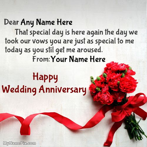 Romantic Happy Wedding Anniversary Wishes With Name