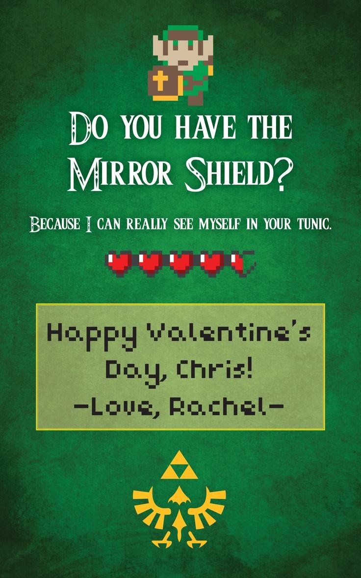 Valentines Day card I made for my husband who is a huge Legend – Legend of Zelda Valentine Card