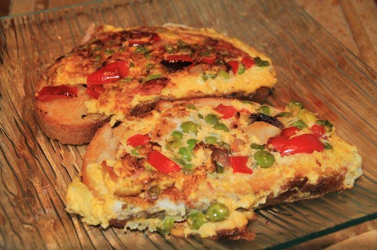Omelette toastée aux légumes