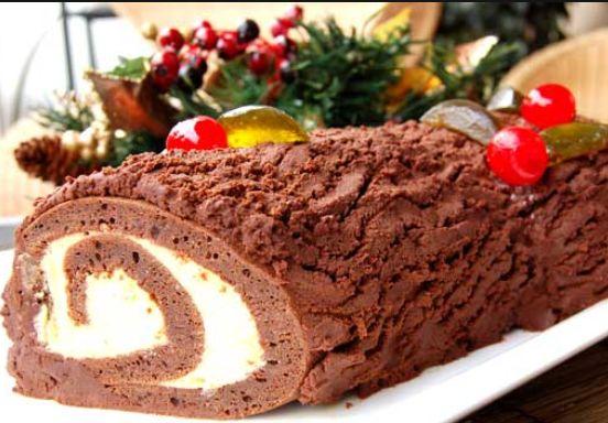 """Готовим новогодний торт """"Рождественское полено"""""""
