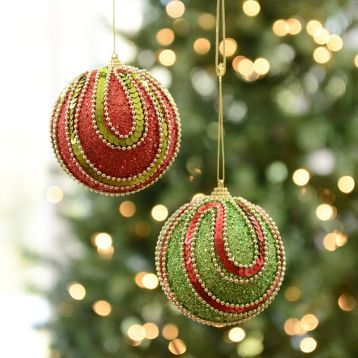 Add our Glitzy Swag Ornaments to your tree for a beautiful touch! #Kirklands #HollyJolly #holidaydecor #KirklandsHoliday