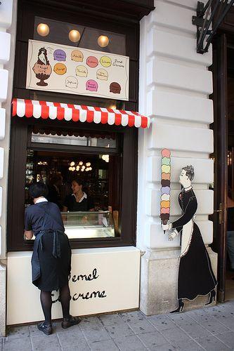 DEMEL EISCREME ~ a small ice cream/gelato shop in Vienna, Austria.