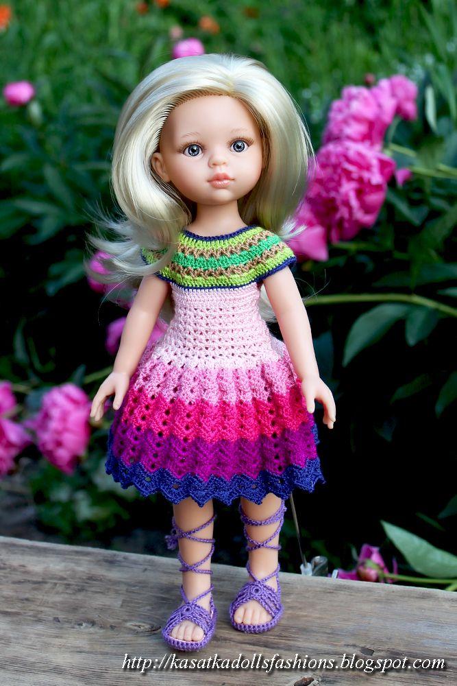одежда для кукол крючком ,видео уроки по вязанию крючком для начинающих