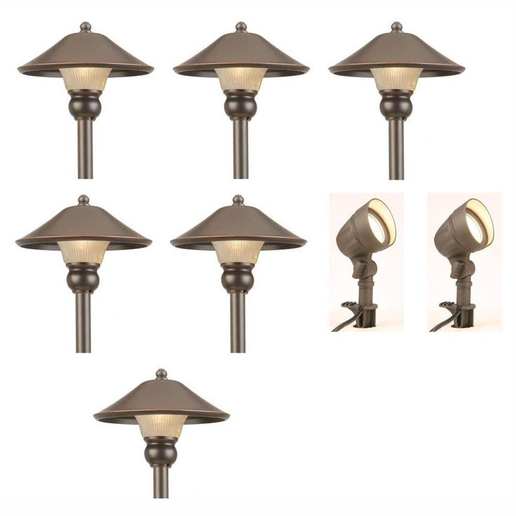 7 best led outdoor lights images on pinterest pathways path hampton bay low voltage bronze outdoor integrated led light kit 8 pack mozeypictures Images